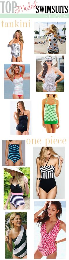 flatstoflipflops.com Top Modest Swimsuits of 2014!  Divided into Tankini and One Piece as well as save vs spend!  Definitely pinning for later....