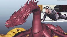 Benedict Cumberbatch performs the mo-cap for Smaug.