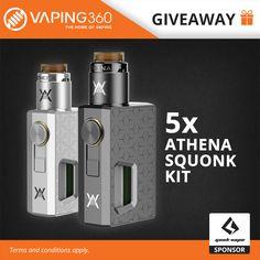 5 x Athena Squonk Kit Geek Vape Giveaway  https://wn.nr/m7bA7p