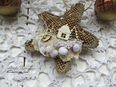 Новогодние текстильные звездочки +МК