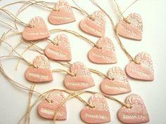 ceramic heart wedding favors