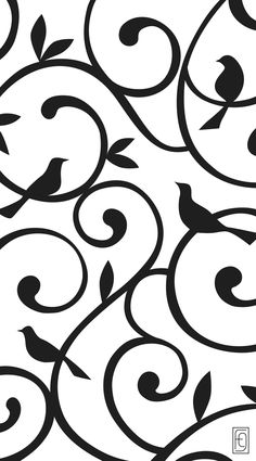 Add design & distinction to your dog gate with the Songbirds pattern from Fusion Gates. Our designer pet gates feature interchangeable art screens created to fuse your home design with the love of you Vector Pattern, Pattern Design, Pet Gate, Dog Gates, Paper Birds, Black N White Images, Animal Design, Fabric Painting, Cute Wallpapers