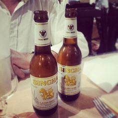 Pour le dîner,  une bière #thai ! #Singha #beer #Lager #bangkok #thailand