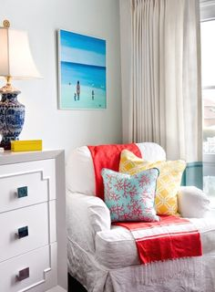 Colorful Beach Cottage Bedroom