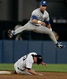 Roberto Alomar was the Toronto Blue Jays second baseman from He was on the team for both of their World Series wins and is the only Toronto player inducted to the Baseball Hall of Fame. Baseball Boys, Baseball Shirts, Baseball Players, Blue Jay Way, Go Blue, Baseball Pictures, Sports Pictures, Mlb, Boston Bruins Hockey