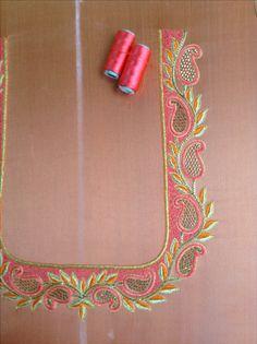 Cutwork Blouse Designs, Silk Kurti Designs, Wedding Saree Blouse Designs, Simple Blouse Designs, Saree Blouse Neck Designs, Chudidhar Neck Designs, Hand Designs, Hand Work Embroidery, Simple Embroidery