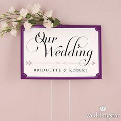 Expressions Wedding Directional Sign - Weddingstar