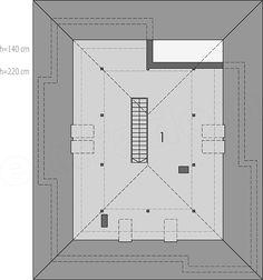 Rzut poddasza projektu Liv 3 Floor Plans, House, Home, Homes, Floor Plan Drawing, Houses, House Floor Plans