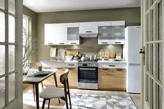 Semi line konyhabútor Kitchen Island, Kitchen Cabinets, Neutral Colors, Inspiration, Table, Home Decor, Furniture, Gamma, Design Interior