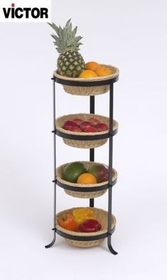 Victor Four Tier Vegetable Rack - Free Delivery Vegetable Rack, Vegetable Storage, Kitchen Rack, Kitchen Dining, Fruit Storage, Raw Living, Fruit Displays, Farmhouse Ideas, Country Farmhouse