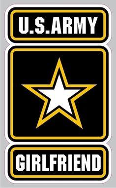I WANT !! AR-2151 Army Girlfriend Military Vinyl Bumper Sticker Car Window Decal 3x5 | eBay
