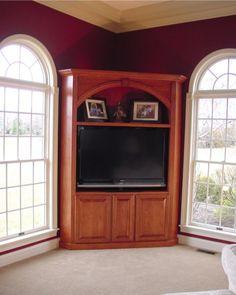 Take doors off corner cabinet
