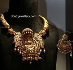 Antique Kanthi Necklace with Lakshmi Pendant photo
