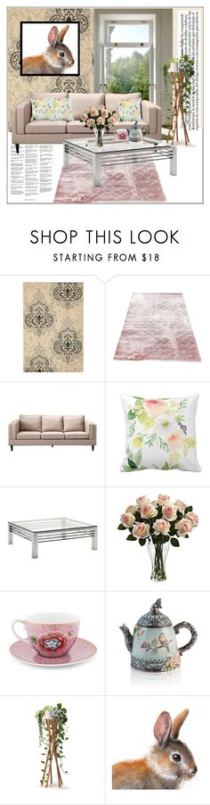 """""""Dusty Rose"""" by frenchfriesblackmg ❤ liked on Polyvore featuring interior, interiors, interior design, home, home decor, interior decorating, Safavieh, Moe's Home Collection, Andrew Martin and Nearly Natural"""