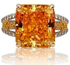 The famous Pumpkin Diamond, a Fancy Vivid Orange diamond is one of the most famous orange diamonds, with a finished weight of 5.54 carats. Bought and sold by the famous Harry Winston Jewelers...