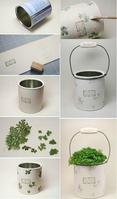 21 manualidades con latas perfectas para reutilizar estos objetos…