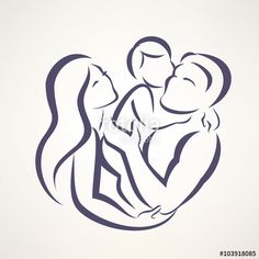 """Download the royalty-free vector """"happy family stylized vector symbol, young parents and child"""" designed by lapencia at the lowest price on Fotolia.com. Browse our cheap image bank online to find the perfect stock vector for your marketing projects!"""