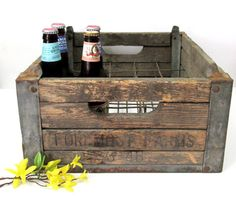 1946 Foremost Dairy Wooden Milk Crate / by CreekLifeTreasures