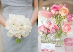 Tulips are perfect for a spring wedding:)