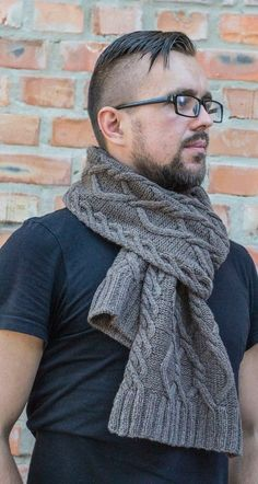 Hand knitted scarf for men coffee with milk knitted scarf от BUPO Hand Knit Scarf, Knit Cowl, Scarf Hat, Men Scarf, Mens Scarf Fashion, Knit Fashion, Men Coffee, Mittens Pattern, Beard No Mustache