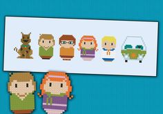Scooby Doo parody Cross stitch PDF pattern by cloudsfactory