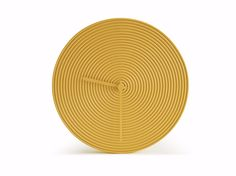Wall-mounted ceramic #clock RING Objectives Collection by Atipico #design Alessio Romano #gold
