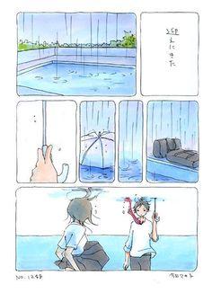 no.1248 Watercolor Drawing, Painting & Drawing, Anime Stories, Short Comics, Cute Comics, Manga Illustration, Character Design References, Manga Comics, Comic Artist