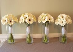 All yellow gerbera daisies for @Staci Flick Flick Flick Barnett; & yellow & white for mine. I think it's a possibility.