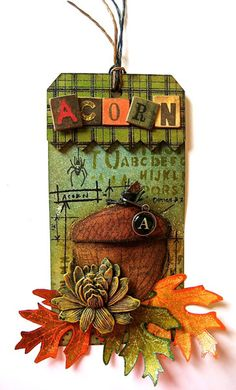 Wendy Vecchi:3-D Sticky-Back Acorn Tag  http://rangerink.com/?ranger_project=3-d-sticky-back-acorn-tag#