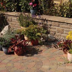 Landscape Garden Walling - Bradstone Landscape chestnut antique