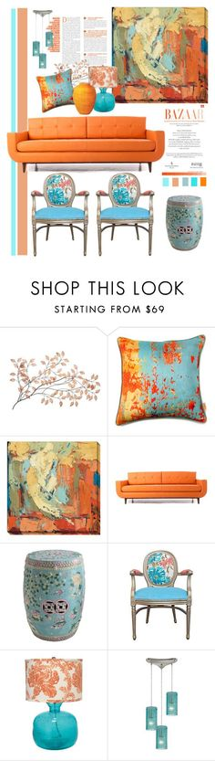 """""""Start with a Painting...."""" by youaresofashion ❤ liked on Polyvore featuring interior, interiors, interior design, home, home decor, interior decorating, Home Decorators Collection, Joybird Furniture, Jamie Young and ELK Lighting"""