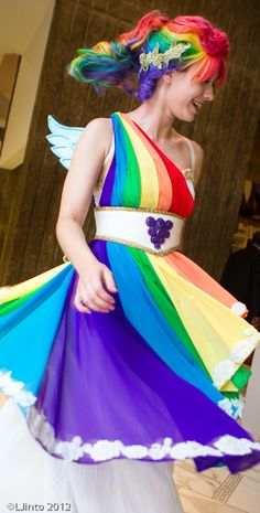 Rainbow Dash Gala Gown Twirl #cosplay #MLP