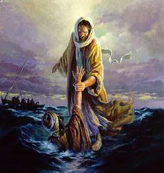 Keep your eyes on Jesus in the midst of a storm so you don't drown, but if you do take your eyes off him and start to drown in your sorrows and fears...just call out to him and he will save you.