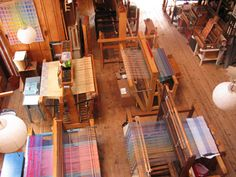 I'd love to have a floor loom.  I used one about this size in college.