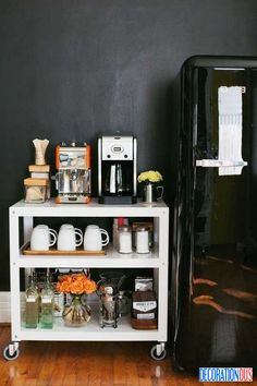 43 Stylish Residence Coffee Stations To Get Inspired - http://www.decorationous.com/interior-decoration/43-stylish-residence-coffee-stations-to-get-inspired.html