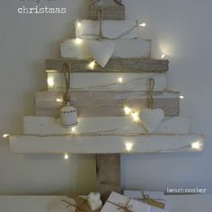 rustic recycled christmas tree - with so much waste in the world, especially at christmas, we enjoyed making this year's tree with scraps of wood and driftwood.…