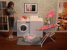 OOAK Barbie Laundry Room