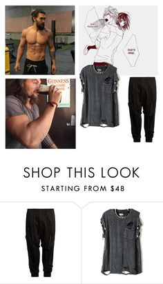 """Jason Momoa"" by xxbrokendreamerzxx ❤ liked on Polyvore featuring Yohji Yamamoto, men's fashion, menswear, Distorted_Anons, Distorted_Singles and Distorted_Requests"