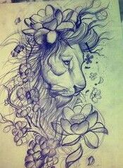 Something close to this for my next big tattoo.. #thelion&lotus