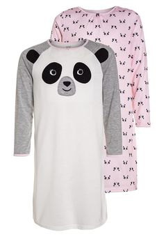Bestill Carter's PANDA FACE 2 PACK - Neglisjé - offwhite for kr 249,00 (09.12.17) med gratis frakt på Zalando.no Panda Face, Color Beige, Slip, Off White, Polyvore, Fashion, Pajamas For Girls, Clothing, Moda