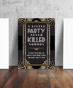 1920's Prohibition Style Party Sign by TheContraryCaptain on Etsy
