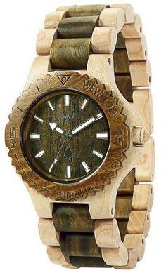 Wewood Uhr Holzuhr DATE BEIGE ARMY Damenuhr Armbanduhr