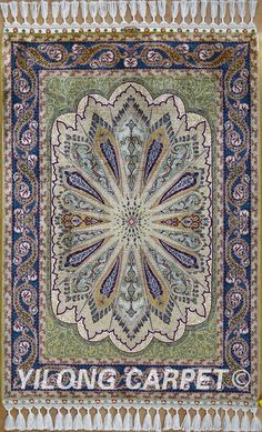 Qom Persian Silk Rug Handmade Carpet Materials: Silk  Craft: Hand Knotted Size: 2'x3' -14'x20'   Color: Beige Design: Flower, Birds, Tree of life, horse, Medallion, four season, Last Supper and hunting  Fit for: bedroom, living room, study room, kitchen, dining area, hallway, gallery, corridor, porch, office.  alice@yilongcarpet.com  WhatsApp: +86 15638927921   www.yilongcarpet.com  #traditionalsilkrug #persiansilkrugsforsale #persianrugprices