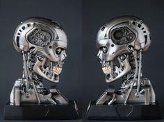 Skynet Terminator, T 800 Terminator, Humanoid Robot, Robot Design, Cyborgs, Geek Art, Arnold Schwarzenegger, Robotics, Quiche