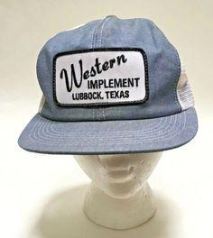 d0d82a49b17a0 Denim Mesh Snapback K BRAND Texas Trucker Hat Cap Patch Made In USA Vintage   KBrand