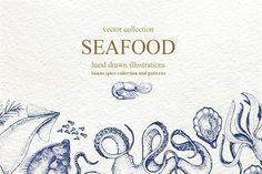 Seafood market design fonts 42 ideas for 2019 Seafood Menu, Seafood Market, Seafood Shop, Menu Design, Logo Design, Graphic Design, Fish Logo, Creative Sketches, Pencil Illustration