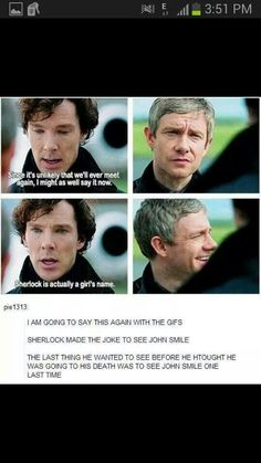 Stop. Please. Now. With. All. The. JOHNLOCK. Feels.
