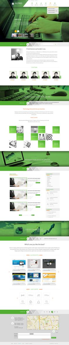 clean green web design