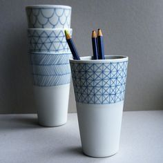 Porcelain cups from atelier Halo