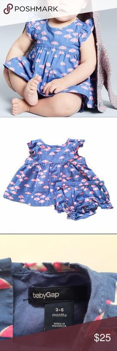 Baby Gap Beach Umbrella Outfit The cutest outfit - our favorite! Flutter sleeve top and matching bloomers. EUC GAP Matching Sets